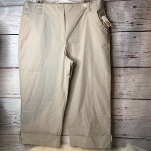 Talbots Khaki Pants New with Tags Stretch 16